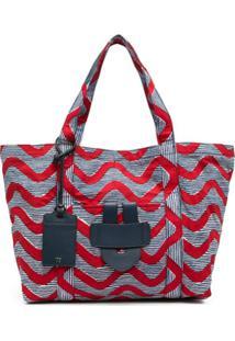 Tila March Simple Bag L Wax Vague - Vermelho