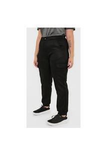 Calça Calvin Klein Jeans Jogger Utilitário Preta