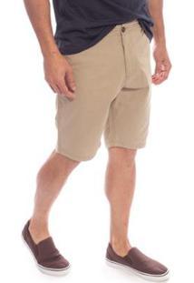 Bermuda Sarja Flash Aleatory Masculina - Masculino-Bege