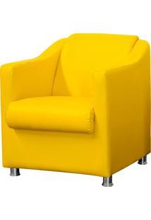 Poltrona Decorativa Lymdecor Laura Corino Amarelo