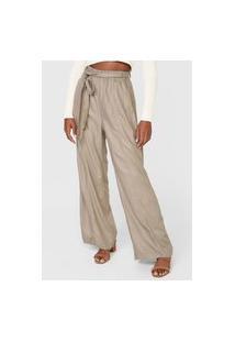 Calça Hering Pantalona Lisa Bege
