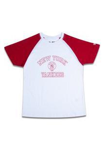 Camiseta New Era Feminina New York Yankees Branco