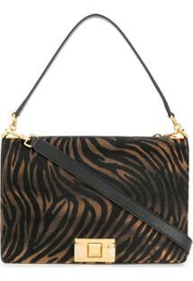 Furla 'Mimi' Zebra Print Shoulder Bag - Preto