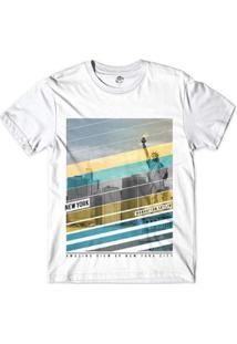 Camiseta Bsc Nova Iorque Capital Do Mundo Sublimada - Masculino-Branco