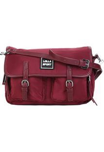 Bolsa Santa Lolla Handbag Nylon Feminina - Feminino-Vinho