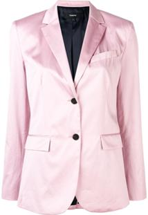 Theory Fitted Blazer - Rosa
