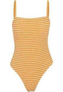 Maiô New Beach Summer - Feminino-Amarelo