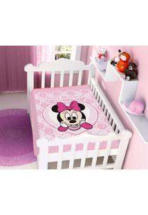 6c2080e99a Cobertor Disney Rosa Minnie Coração Jolitex