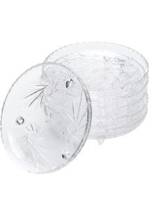 Bandeja Cristal Redonda - Unissex