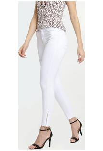Calça Feminina Jeans Cigarrete Cintura Alta Marisa