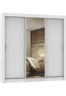 Guarda Roupa Lyon 3 Portas De Correr 1 Espelho Branco Madesa