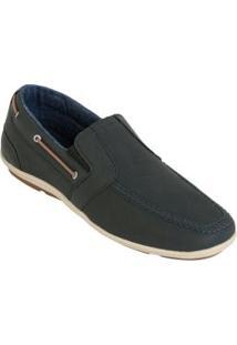 Sapato Mocassin Preto Com Forro Jeans