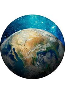 Tapete Love Decor Redondo Wevans World Azul 84Cm