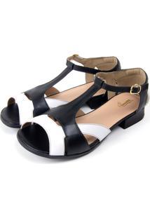 Sapato Miuzzi Branco/Preto - Kanui