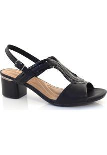 Sandália De Salto Baixo Comfortflex