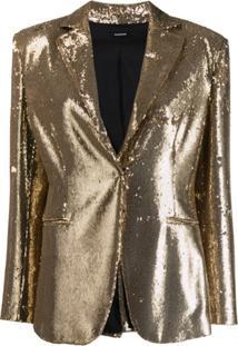 P.A.R.O.S.H. Sequin Blazer - Dourado