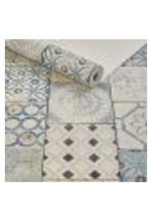 Papel De Parede Importado Vinilico Textura Azulejo Portugues