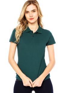 Camisa Pólo Com Manga Malwee feminina  0a7241f3b7a2a