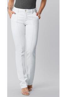 Calça Sarja Com Elastano Branco