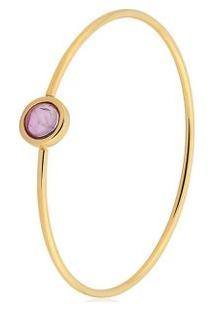 Pulseira Toque De Joia Bracelete Fio Círculo Pequeno - Feminino-Dourado