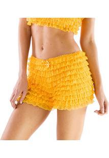 Calcinha Bermuda Thais Gusmão Lolita Ww - Feminino-Amarelo