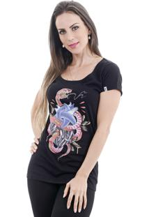 Camiseta Rogue Apparel Snake Heart Preta