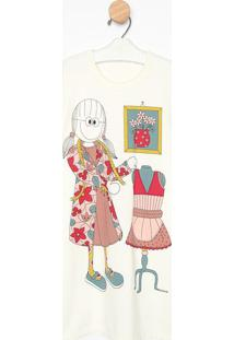 Camisã£O Manga Longa- Creme & Rosa Clarosonhart