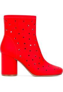 Maison Margiela Ankle Boot 'Socks' De Couro - Vermelho