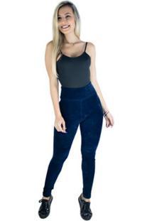 Calça Mvb Modas Veludo Cotelê Cintura Alta Feminina - Feminino