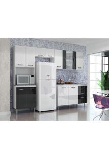 Kit Cozinha 3 Peças 2180 Sem Balcão Branco E Preto Aramóveis