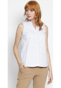 Camisa Com Botãµes- Azul Pastel & Branca- Intensintens