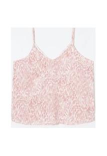 Blusa Regata Alça Fina Estampa Animal Print Em Crepe Curve & Plus Size | Ashua Curve E Plus Size | Multicores | Eg