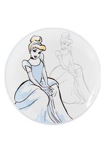 Prato Para Sobremesa Royal Princess Cinderela 21 Cm - Home Style