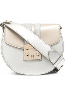 Furla Metropolis Glitter-Detail Crossbody Bag - Cinza