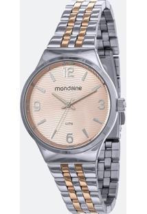 Kit Relógio Feminino Mondaine 53725Lpmgge3K 5Atm + Pulseira