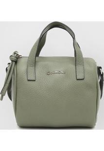 Bolsa Couro Dumond Texturizada Verde