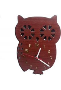 Relógio De Parede Infantil Em Madeira Mdf Laminado Com Detalhes Em Espelhos Decoramix