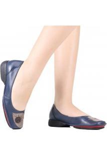 Sapato J.Gean Mariah Em Couro Bordado