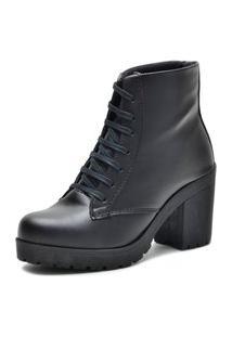 Bota Cano Curto Over Boots Tratorada Preto