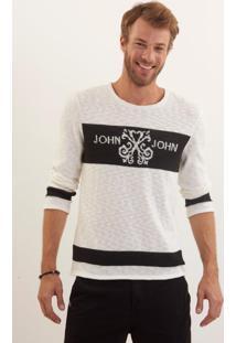 Blusa John John Jonas Tricot Off White Masculina (Off White, P)