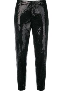 Dsquared2 Emmalynn Hockney Sequinned Trousers - Preto
