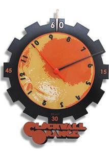 Relógio De Parede Laranja Clock Geek10 - Multicolorido