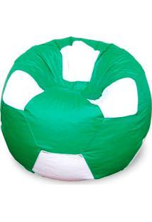 Puff Bola Super Em Courino-Phoenix Puff - Verde / Branco