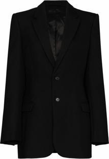Wardrobe.Nyc Blazer X Browns 50 De Lã Com Abotoamento Simples - Preto