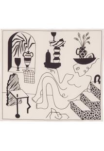 Lenço Feminino Carré Bauhaus Muse - Bege