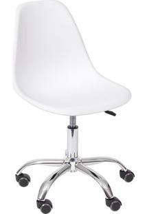 Cadeira Eames Dkr- Branca & Prateada- 93X47X41Cmor Design
