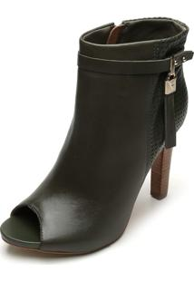 Ankle Boot Couro Bottero Liso Verde