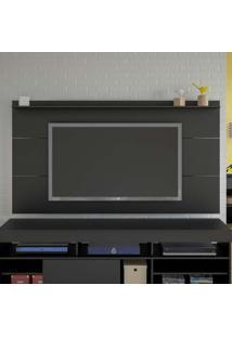 Painel Para Tv 55 Polegadas Slim Preto 180 Cm