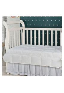 Edredom Em Fibra Baby 233 Fios 140 X 100 Branco Plumasul