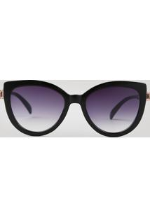 Óculos De Sol Redondo Feminino Oneself Preto